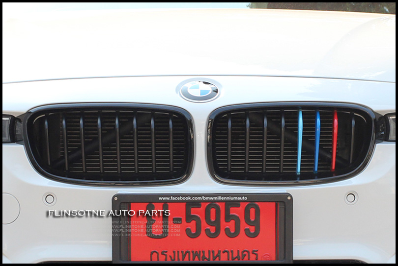 M Colour Front Kidney Grill Grilles F30 F31 Glossy Black