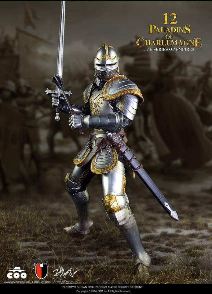 figure stand 1//6 Scale COOMODEL SE003 12 Paladins of Charlemagne