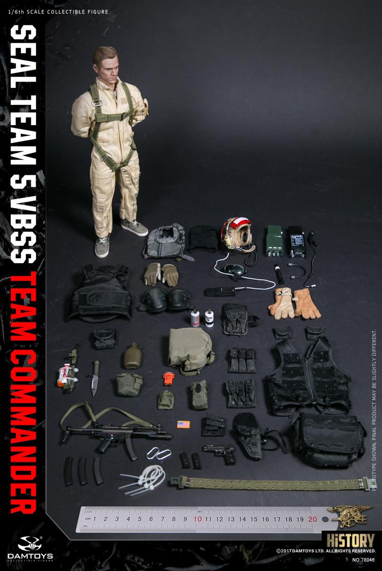 Flight suit COMMANDER 1//6 Scale DAMTOYS 78046 SEAL TEAM 5 VBSS