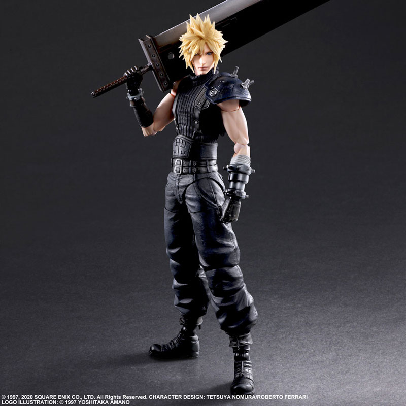 Square Enix Play Arts Kai Final Fantasy VII Cloud Strife PVC Action Figure Play