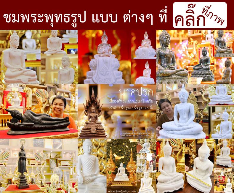 ชมภาพพระพุทธรูปแบบต่างๆ