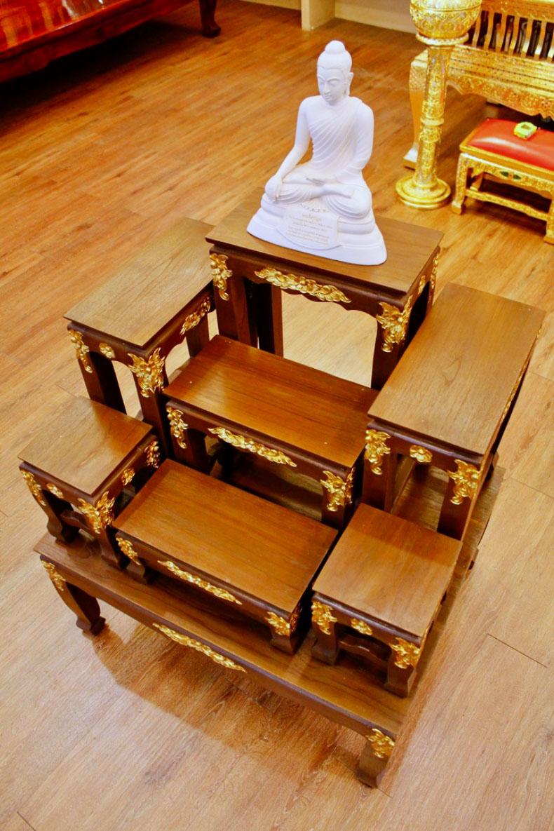 โต๊ะหมู่บูชาพระขนาด หมู่ 7 หน้า 7 ราคา 9900 บาท